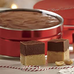 Chocolate-Peanut Butter Layered Fudge from The Swiss Colony