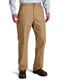 Carhartt Men\'s Canvas Work Dungaree B151,Dark Khaki,34 x 32