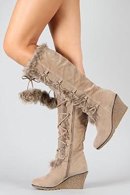 pom pom boots