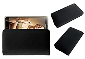 Acm Rich Leather Soft Case For Lenovo Golden Warrior S8 Mobile Handpouch Cover Carry Black