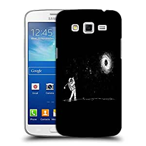 Snoogg Astronaut Playing Golf Designer Protective Back Case Cover For SAMSUNG GALAXY GRAND 2 G7106