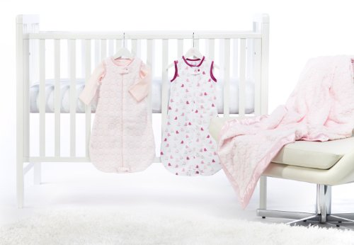 SwaddleDesigns 5 Piece zzZipMe Sack Crib Bedding Set with Luxury Adult Blanket, Pastel Pink, 3-6months