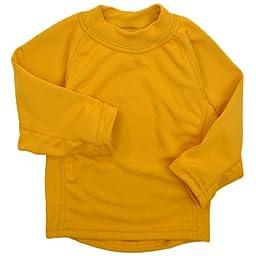 Molehill Kid\'s Long Underwear Tops, Saffron, 6/7 yrs