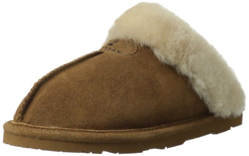 BEARPAW Women's Loki II Slipper,Hickory,5 M US