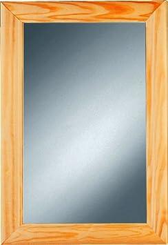 kristall form 66000135 halvar holzrahmenspiegel inklusive montierter aufh ngung kiefer natur. Black Bedroom Furniture Sets. Home Design Ideas