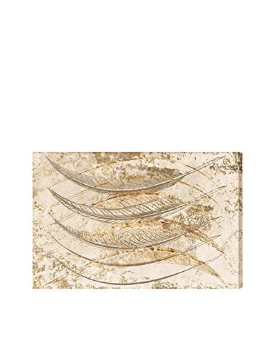 """Oliver Gal """"Gold Feathers"""" Canvas Art"""