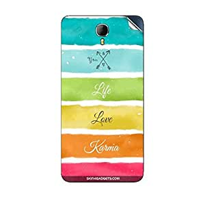 Skin4Gadgets Lets Love Life Phone Skin STICKER for INTEX AQUA STAR II