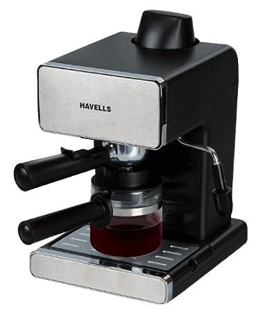 Havells Donato Espresso 900-Watt Stainless Steel Coffee Maker (Black)