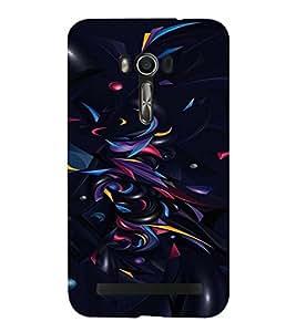 PrintVisa Modern Art Pattern 3D Hard Polycarbonate Designer Back Case Cover for Asus Zenfone Go