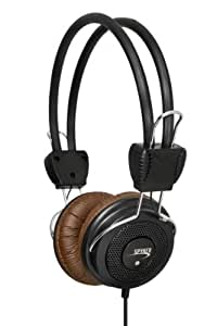 Connectland CL-AUD63036 On-Ear Stereo Music Headphones for Computer & Mobile Devices, Brown
