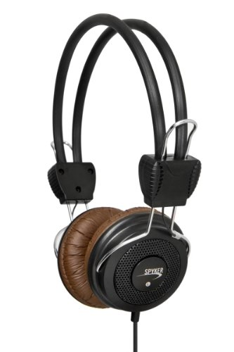 Syba Cl-Aud63036 Connectland Over-The-Head Retro Style Stereo Headphone, Brown