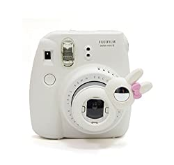 [Fujifilm Instax Mini Selfie Lens] -- CAIUL Rabbit Style Instax Close Up Lens with Self-portrait Mirror For Fujifilm Instax Mini 8 mini 7s Camera and Polaroid 300(White)