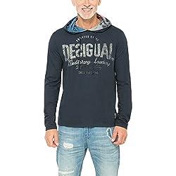Desigual Herren T-Shirt ALEC, Gr. XX-Large, Blau (AZUL TINTA 5096)