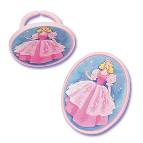 Oasis Supply Assorted Colors Cupcake/Cake Decorating Rings, 1-3/4-Inch, Princess, Set of 12 - 1