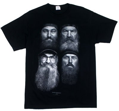 Duck Dynasty Four Faces TV Show Adult T-Shirt Tee Select Shirt Size: Medium