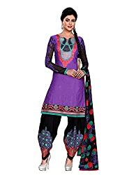 Balle Balle Voilet colored dress material