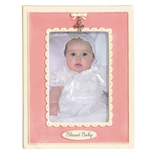 Photo Frame For Blessed Baby Pink Ceramic From Grasslands - 1