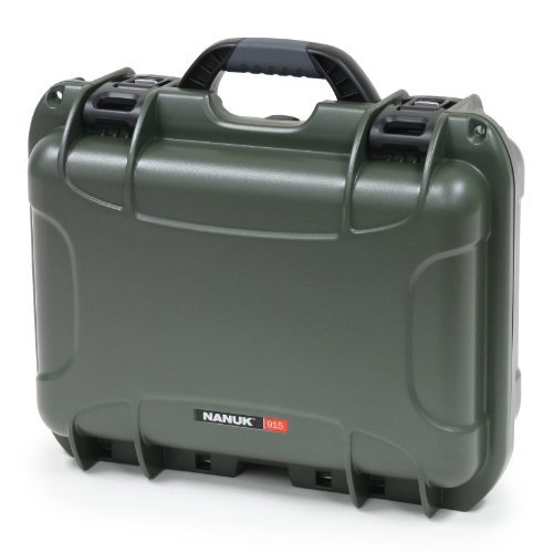 Nanuk 915 Case With Cubed Foam (Olive) Color: Olive Style: Cubed Foam