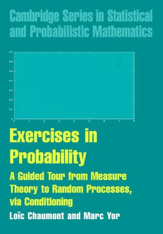 Exercises in Probability: A Guided Tour from Measure Theory to Random Processes, via Conditioning (Cambridge Series in Statistical and Probabilistic Mathematics)