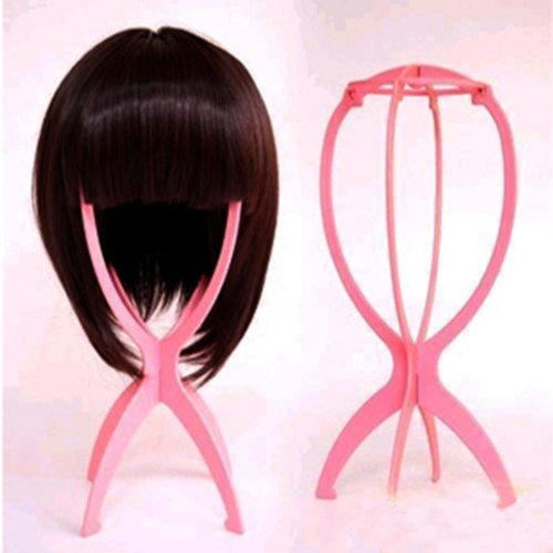 HuntGold New Durable Plastic Foldable Stable Hair Wig Cap Hat Stand Holder Display Tool (Wig Display Case compare prices)