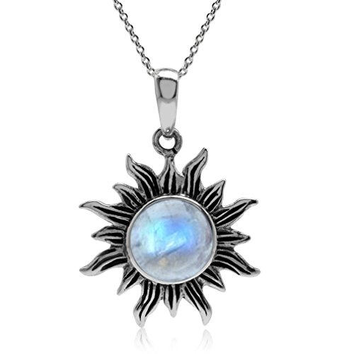 natural-moonstone-925-sterling-silver-sun-pendant-w-18-inch-chain-necklace