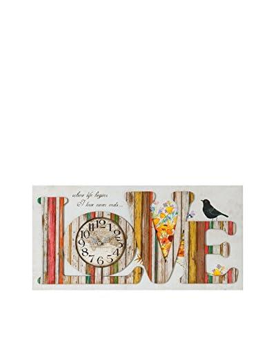 Especial Deco Vertical Reloj De Pared Love