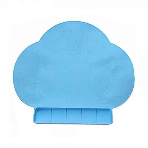 En Silicone Pad Tapis de table bébé table Set de table & tranche imperméable et antidérapant