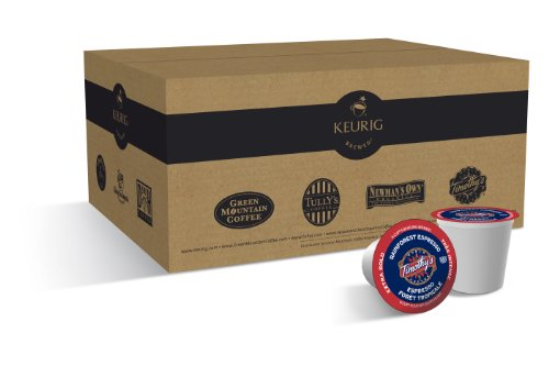 Timothy's World Coffee, Rainforest Espresso K-Cups for Keurig Brewers (Pack of 50)