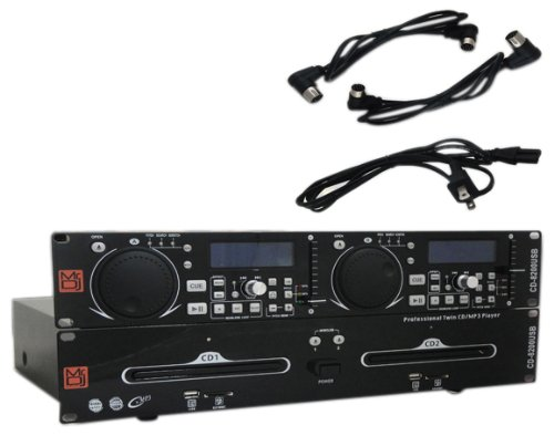 Great Features Of Mr. Dj CD-8200USB MP3/USB/SD Card Compatible Professional Rack Mount Dual Multi-Di...