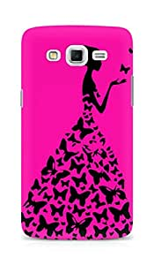 AMEZ designer printed 3d premium high quality back case cover for Samsung Galaxy Grand 3 G7200 (neon pink girl princess)