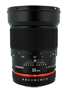 Rokinon 35mm f/1.4 Lens for Canon Cameras