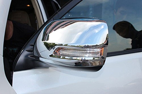 Salusy Chrome 2pcs ABS Car Rearview Mirror Cover Trim For Toyota Land Cruiser Prado FJ150 2014 2015 (Mirror For Toyota Prado compare prices)