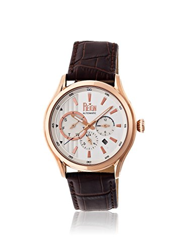 Reign Automatic Men's Gustaf Dark Brown/Silver Leather Watch