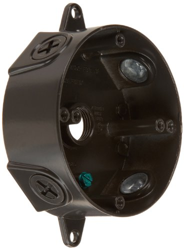 RAB Lighting VXCA Weatherproof Round Box with No Cover, Aluminum, 1/2″ Hole Size, Bronze Color image