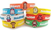 AllerMates Dairy Allergy Awareness Wristband Pint by CM