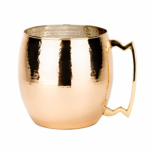 Old Dutch Jumbo Hammered Solid Moscow Mule Mug, 192-Ounce, Copper front-419361