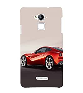 printtech Superfast Car Back Case Cover for Coolpad Note 3 Lite Dual SIM with dual-SIM card slots