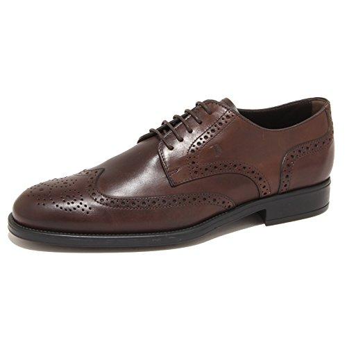 7783N scarpe TOD'S DERBY testa di moro scarpe uomo shoes men [6.5]