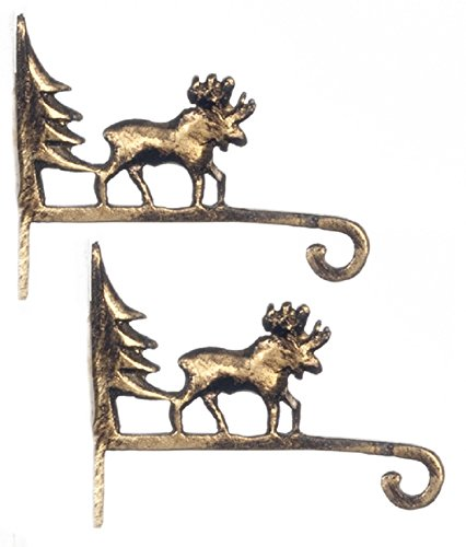 Dollhouse Miniature Pair of Moose Wall Brackets by Falcon Miniatures (Miniature Brackets compare prices)