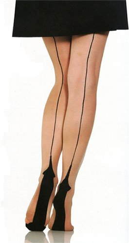 Foot Traffic Plus Size Natural Nude Cuban Heel Fashion Hosiery