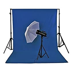 Neewer 1.8 x 2.8M/ 6 x9ft Photo Studio 100% Pure Muslin Collapsible Backdrop Background, Blue