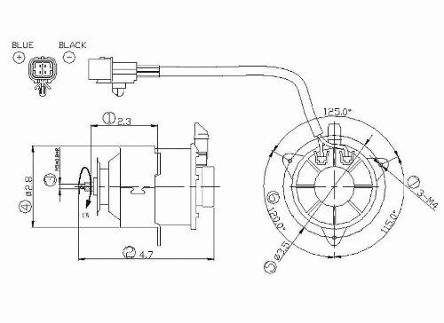 Radiator Fan Motor For 1995-1997 Mitsubishi Eclipse 2.0L (Manual Transmission, Without Turbo) - 631140