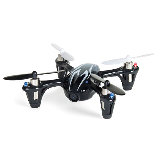 Hubsan 2.4 GHz X4 H107C-HD Quadcopter with 2MP Video Camera, 4 Channels, Black/White