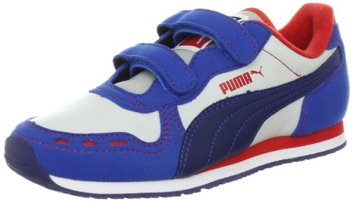 PUMA Cabana Racer SL V Sneaker (Toddler/Little Kid/Big Kid),Puma Royal/Gray/Blue/Red,6 M US Toddler
