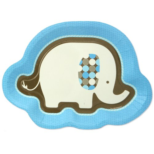 Blue Elephant Dinner Plates (8 Count) front-150226