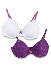2 Pack Angel Scatter Spotted Underwired AA-D Bras