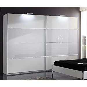 schwebet renschrank clement alpinwei glas weiss und strass stein application schrankbreite. Black Bedroom Furniture Sets. Home Design Ideas