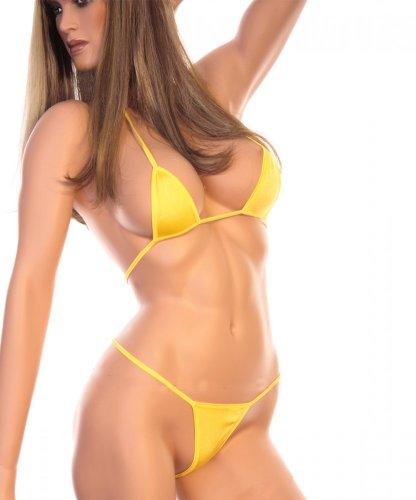 Sexy Microbikini Bikini Einhetitsgröße S, M, L gelb oder schwarz