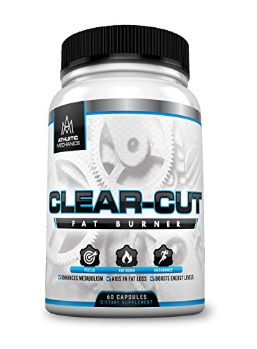 Athletic Mechanics – Clear-Cut – Powerful Fat Burner for Fat Loss/Weight Loss, Endurance, Focus, Concentration, Enhances Metabolism, Boosts Energy Levels – 796mg – 60 Capsules
