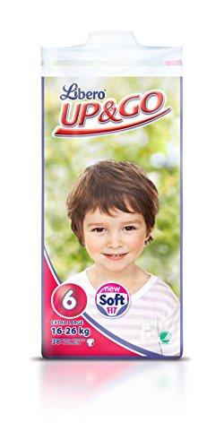 Up & Go - mutande per bambini di peso 16-26 kg - Dimensioni: 6 - 2 confezioni (76 in totale)